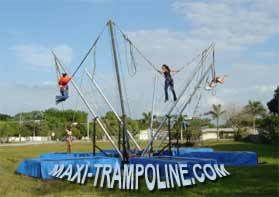 TRAILER BUNGEE TRAMPOLINE MOBILE by MAXI-TRAMPOLINE.com Leader in design and production of amusement sports attractions, recreation rides and Fun sport games like the BUNGEE TRAMPOLINE, bungy trampoline, 1in1 4in1 5in1 6in1 SALTO Trampolino, fix stationary portable and mobile bungee trampoline on trailer, ELASTIC jump 1 way 2 ways 4 ways 5 ways 6ways, aerojump, 1-in-1 eurobungee trampolin, trailer CLIMBING walls, COMBO jumping and climbing wall 2 bays 3bays 4 bays, Funball Shootair compressed air cannons ball from 1 to 30 cannons, Playgrounds, Bobsleigh Roller Coaster, Rodeo mechanic bull and horse, Aero spaces bikes, bungy jumping, Sling Shot, play grounds, aerotrim gyroscope, extreme Fun rides, foam air cannon ball game, inflatable thing, Leisure theme ATTRACTIONS and AMUSEMENT Parks CONSULTING… and more products and services - WEB SITE: www.maxi-trampoline.com - CONTACT EMAIL: infogames@maxi-trampoline.com